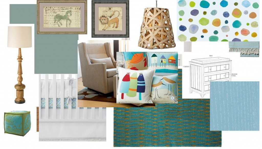 Hamptons Baby Room Interior Design
