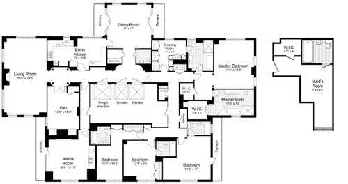 New york city apartment floor plans gurus floor for Apartment floor plans new york