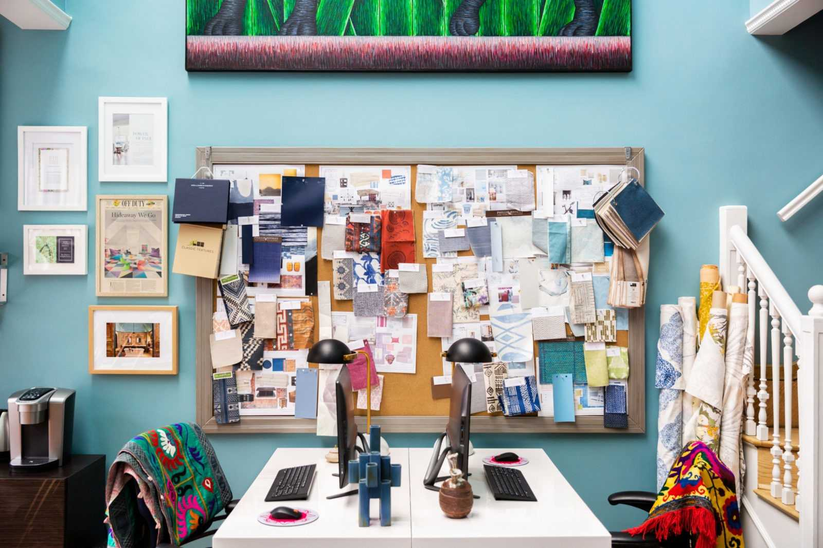 colorful nyc interior designer office