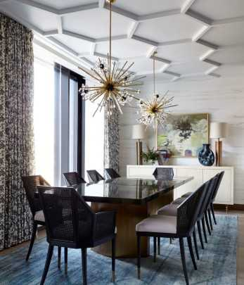 Dining room by Kati Curtis Design
