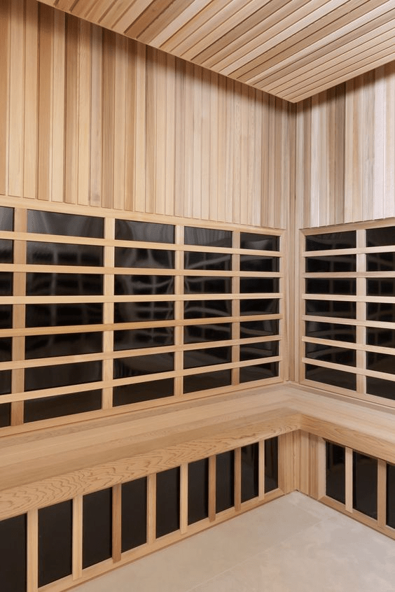 infrared sauna in a Westchester interior design