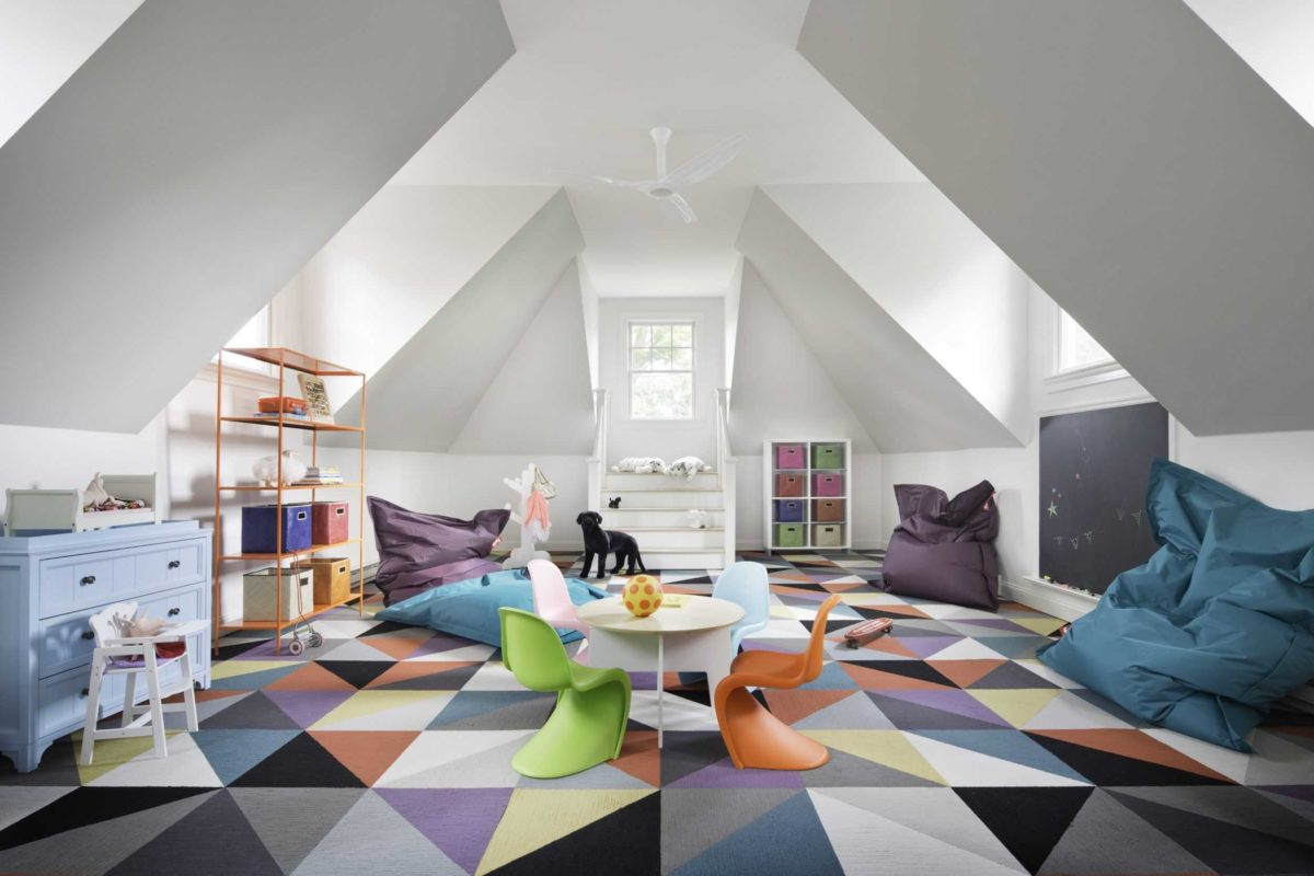 colorful play room with jewel tone colors