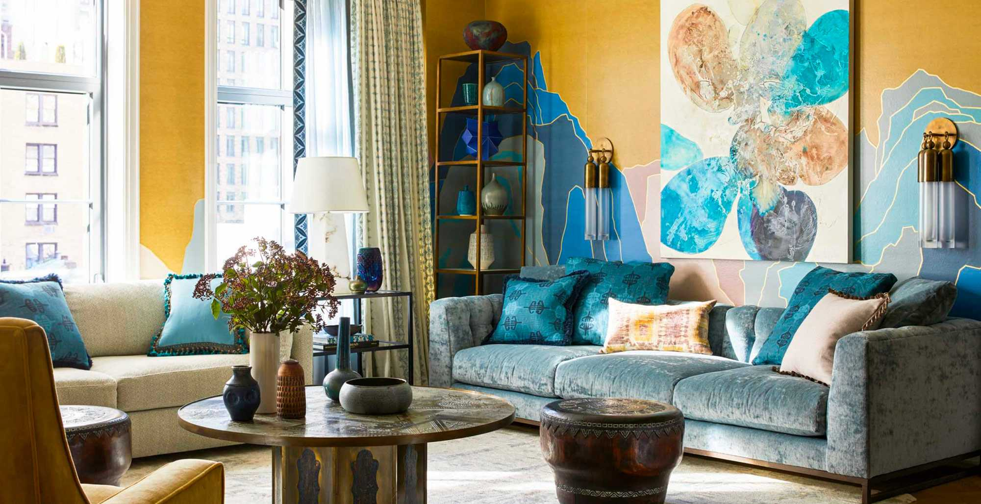 NYC Interior Design Living Room by Kati Curtis Design