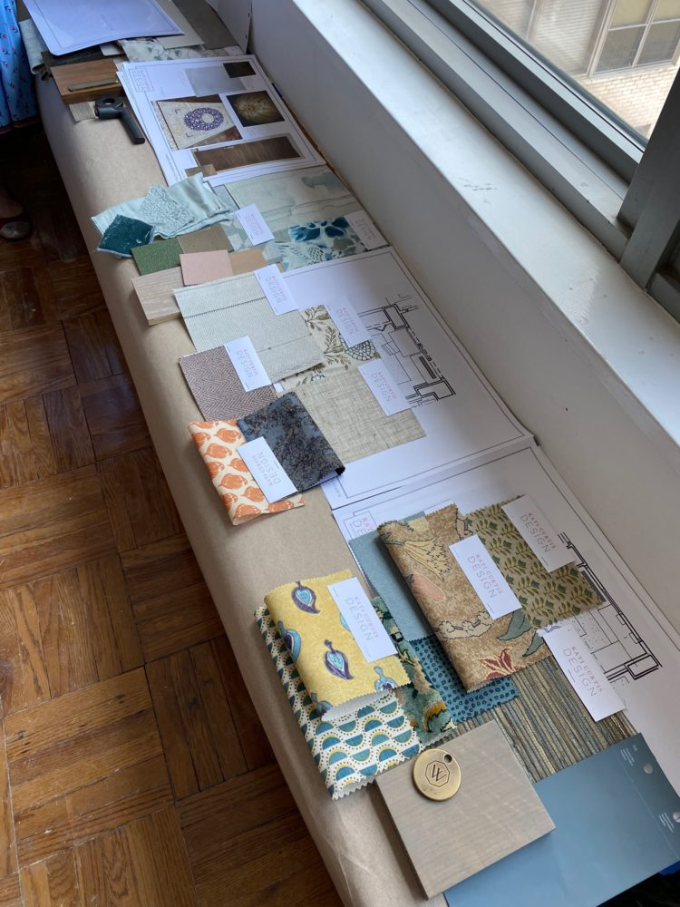 series of textile and millwork samples